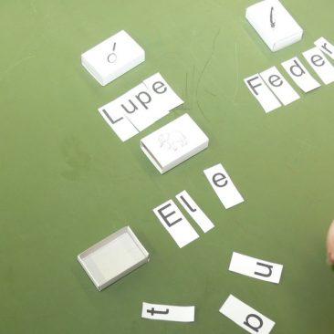 Wörter zusammen setzen