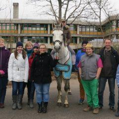 Was macht das Pferd vor unserer Schule?