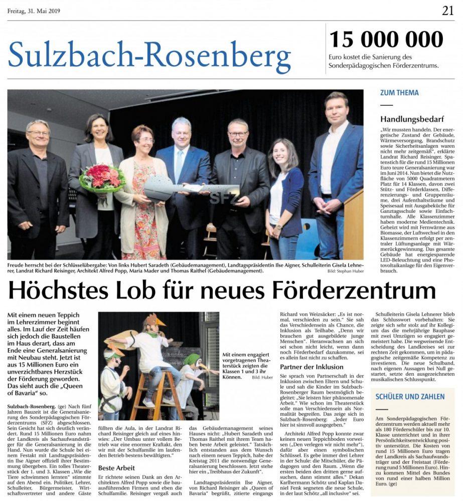 Zeitungsartikel Sulzbach-Rosenberger Zeitung